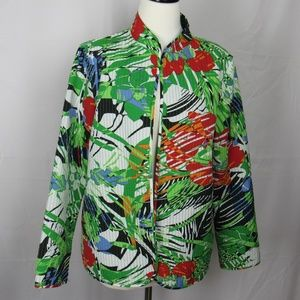 Jackets & Blazers - Quilted Tropical Reversible Jacket